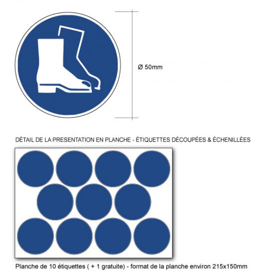 81d76c6002ad7d Pictogramme Chaussures de Sécurité Obligatoires M008 norme ISO 7010
