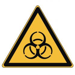 Pictogramme DANGER RISQUE BIOLOGIQUE - W009 - Norme ISO 7010 - Base 25mm en planche