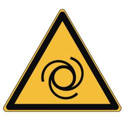 Pictogramme DANGER DÉMARRAGE AUTOMATIQUE - W018 - Norme ISO 7010 - Base 25mm en planche