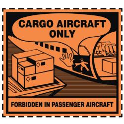 Étiquette Cargo Aircraft Only