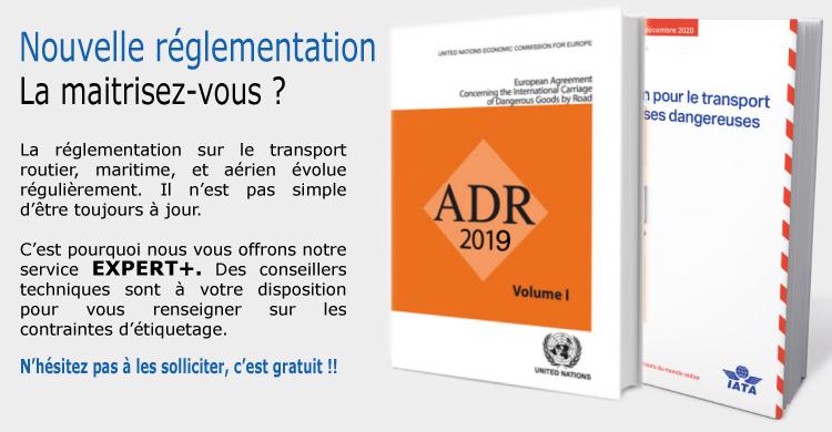 Nouvelle réglementation ADR et IATA