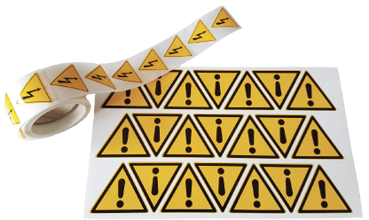 Etiquettes pictogramme en planche ou en rouleau